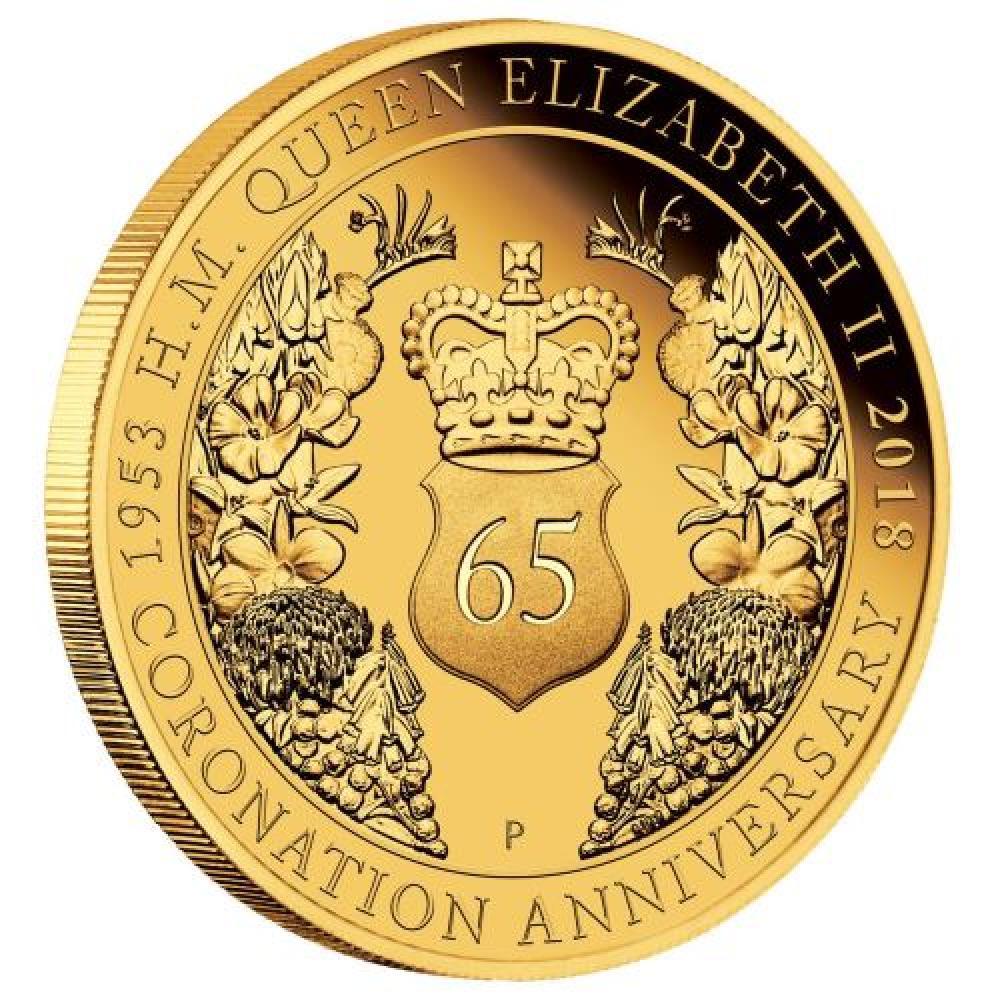 cef013dd6 Zlatá mince 65. výročí korunovace Jejího Veličenstva QE II PP 25 Dollar