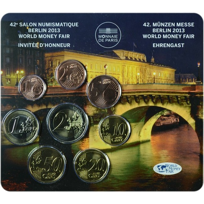 3.88 EUR CuNi Mini Set WMF Berlin 2013 UN