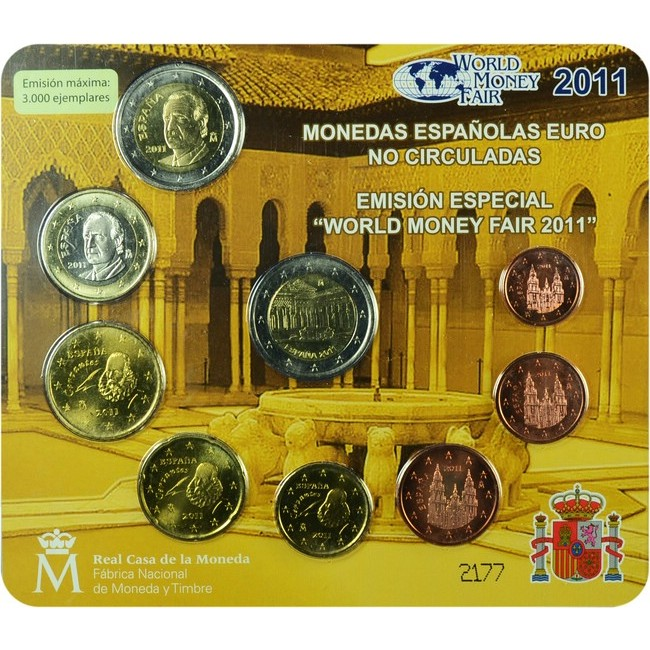 5.88 EUR CuNi Kurssatz Španělsko: 2011 World Money Fair OSN