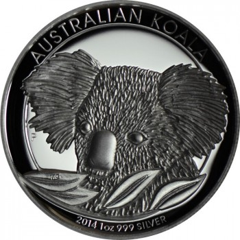 1 Dollar Silber Koala - High Relief 2014 PP