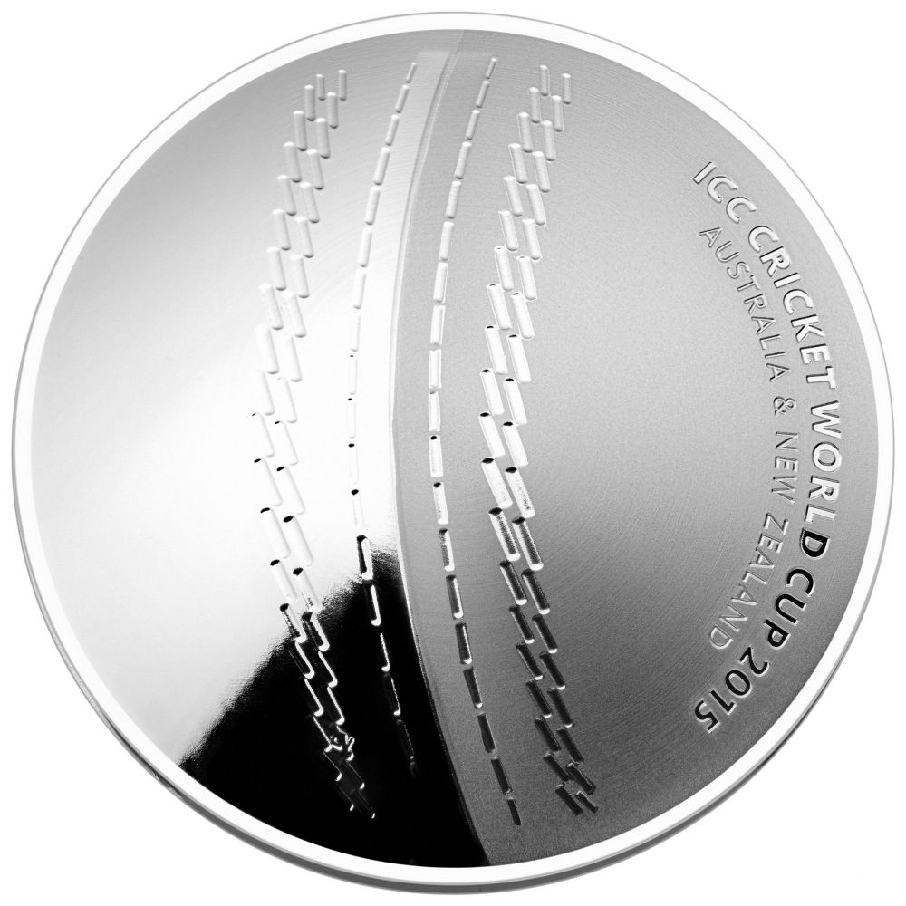 1 Dollar Stříbrná mince ICC Cricket WM 2015 PP