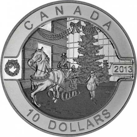 10 Dollar Silber O Canada - Canadian Holiday Season UN