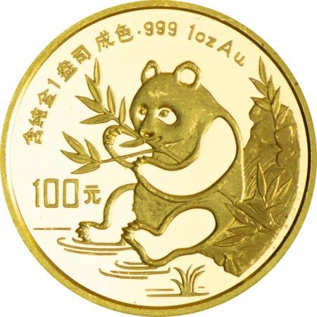 Panda 1 oz zlato 1991 - LOTS