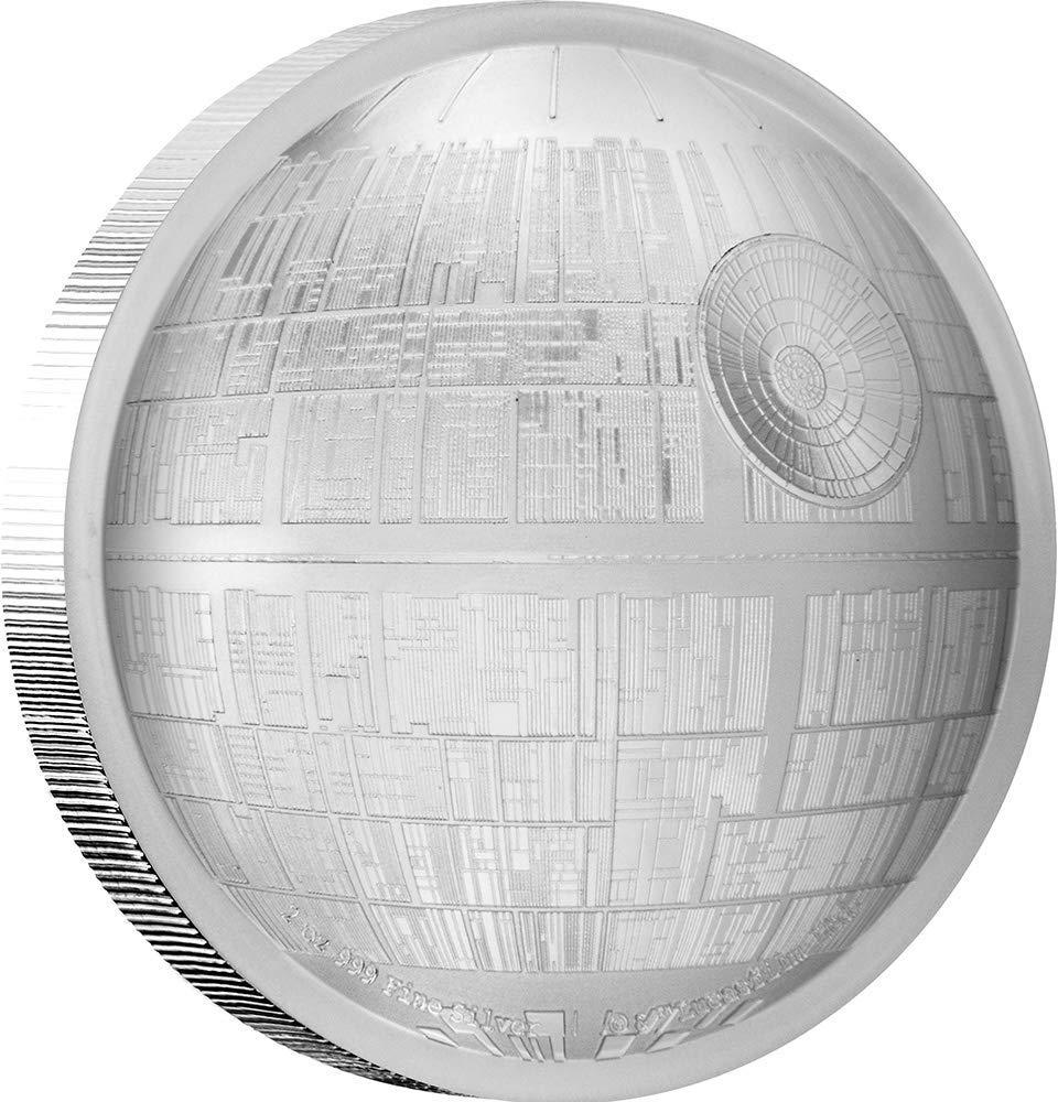 Stříbrná mince Star Wars 2 Oz - Death Star PP