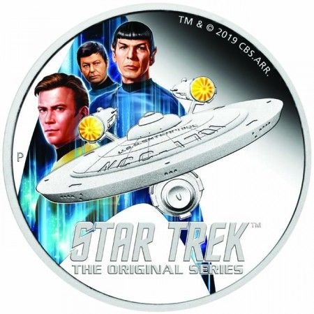 2 Dollar Stříbrná mince -Star Trek: Enterprise &; Crew PP