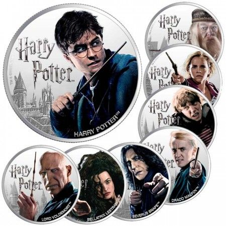 8 Dollar Stříbrný set -Harry Potter Set PP
