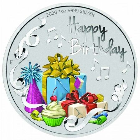 1 Dollar Stříbrná mince -Happy Birthday! UN