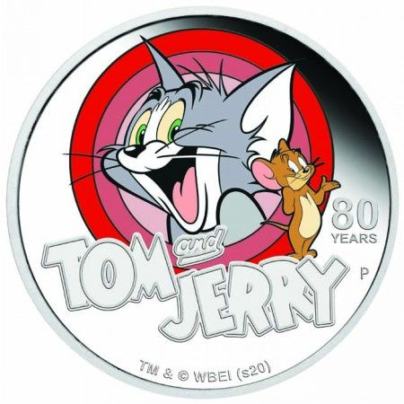 1 Dollar -Stříbrná mince -Tom & Jerry PP